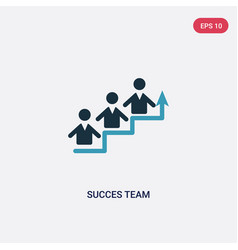 two color succes team icon from people concept vector image