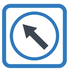 Up-left rounded arrow flat icon vector