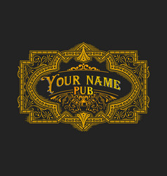 vintage logo layered vector image