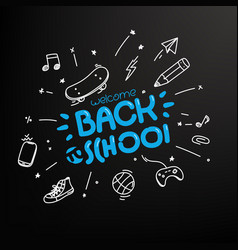 Welcome back to school concept editable layout vector