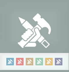work tools icon vector image
