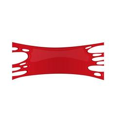 banner with blood splash vector image vector image