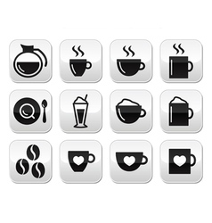 Coffee buttons set - vector image vector image