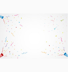 exploding party popper background vector image
