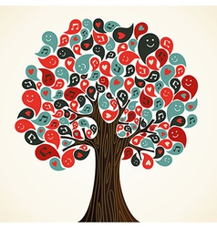 Abstract music tree vector image
