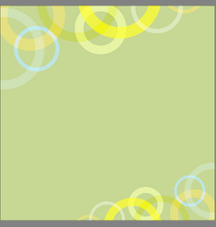 abstract circle loop on green soft background vector image