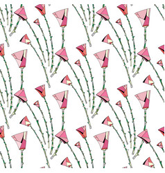 abstract roses pattern floral seamless background vector image