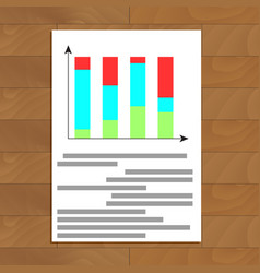 color bar chart vector image vector image