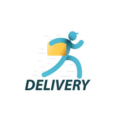 delivery service logo template vector image