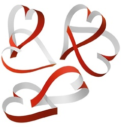 Entwined Hearts vector image vector image