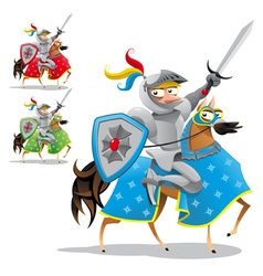 Knight and horse vector image vector image