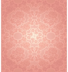 Lace background ornamental pink flowers template vector
