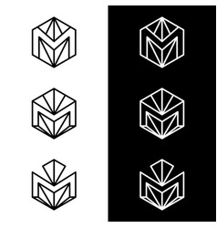 m letter logo design business logo vector image vector image