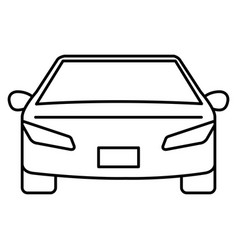 modern car isolated icon vector image