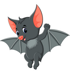 bat cartoon waving vector image vector image