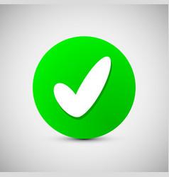 check mark sign icon ok accept valid button vector image