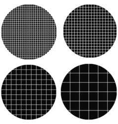 circle is made up of squares vector image vector image
