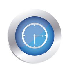 color circular emblem with wall clock icon vector image vector image