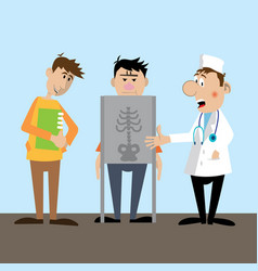 making the patient x-ray vector image vector image