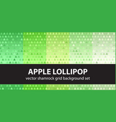 shamrock pattern set apple lollipop seamless vector image vector image