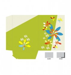 template for folder design vector image