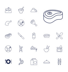 22 dinner icons vector
