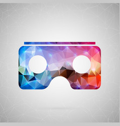 Abstract creative concept icon of vr for vector