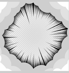 abstract explosion monochrome comic concept vector image