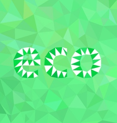 Abstract green background eco vector