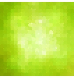 Abstract green mosaic background vector image