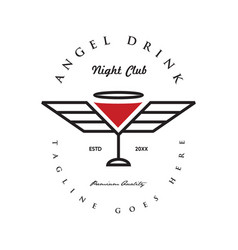angel drink logo vector image