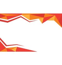 Background trangle orange vector