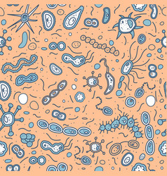 bacterias cells seamless pattern vector image