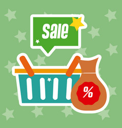 Big discounts shopping sales vector