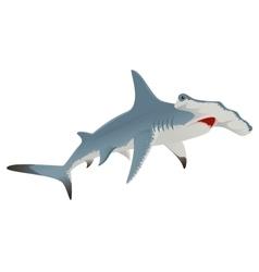 Big hammerhead shark vector