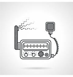 Black line icon for VHF radio station vector image