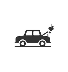 broken car icon vector image