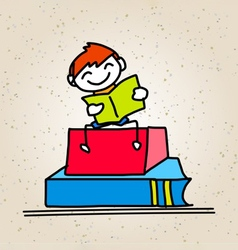 cartoon back to school vector image