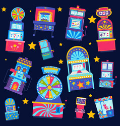 casino seamless pattern win vector image
