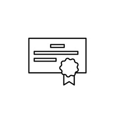 certificate license icon can be used for web logo vector image