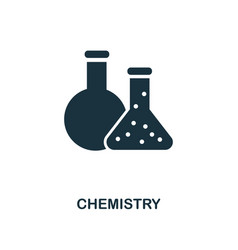 Chemistry icon monochrome style icon design from vector