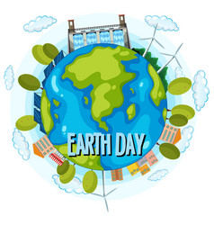 clean energy earth day poster vector image