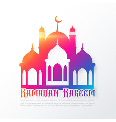 Colorful mosque shapes for ramadan festival vector