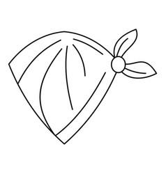 cowboy neckerchief icon outline style vector image