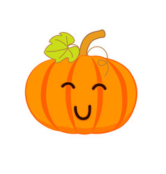 cute smiling pumpkin for your design vector image