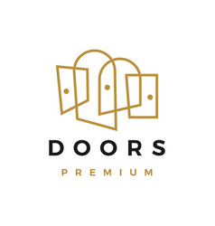 door outline logo icon vector image