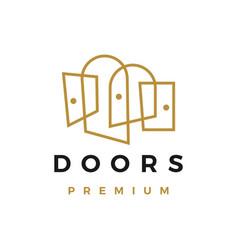 Door outline logo icon vector
