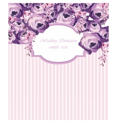 Ector Card with Watercolor Rose flowers frame vector