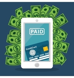 Electronic payment and technology vector image