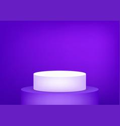 Empty podium studio violet background for product vector